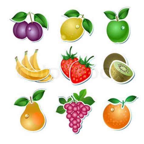 Aufkleber Obst Essbar by Set Vektor Obst Stock Vektor Colourbox