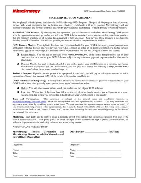 13 Oem Distribution And License Agreement Sles Templates Pdf Word Sle Templates Oem License Agreement Template