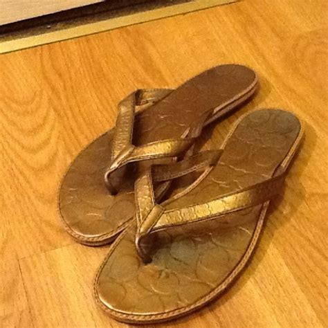 Sandal Hermes Gold 77 coach coach gold sandals size 8 5 from kimmy s closet on