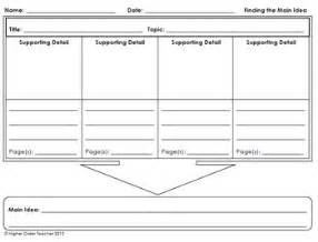 idea organizer finding the main idea graphic organizer with space for drawings