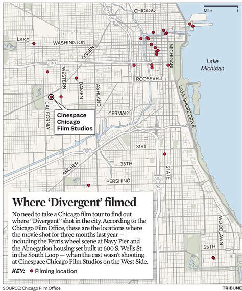 divergent chicago map map divergent filming in chicago chicago tribune
