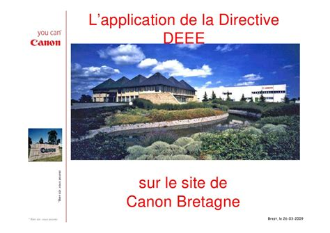 Application De Application De La Directive Deee Canon Bretagne