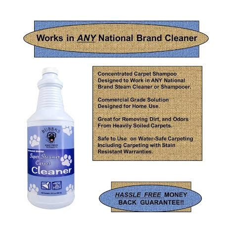 Water Free Upholstery Cleaner by Odor Stain Removers Bubbas Steamer Carpet Cleaner