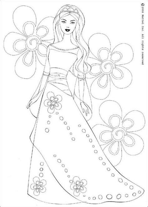 coloring page of barbie princesses barbie princess coloring pages hellokids com