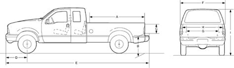 ford f250 bed dimensions 2003 f250 f350 dimensions page