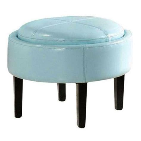 Aqua Storage Ottoman Home Decorators Collection Cooper Aqua Bonded Leather Storage Ottoman 0142700330 The Home Depot
