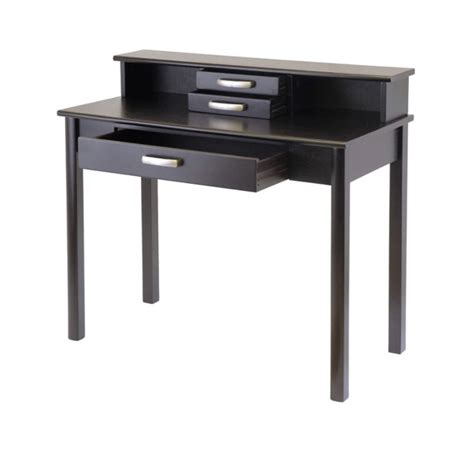 Writing Desks With Hutch Winsome Wood Liso Writing Desk With Hutch Espresso 92273