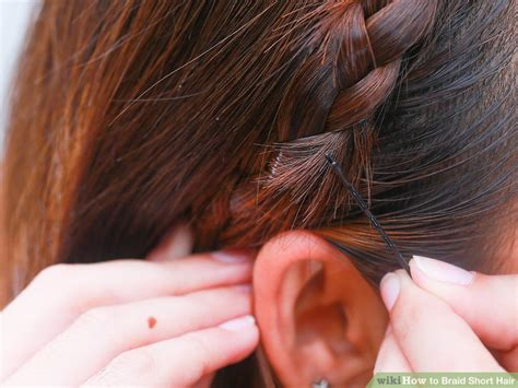 ear lenght braids how to braid short hair with pictures wikihow