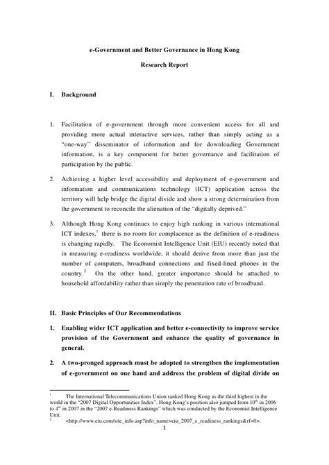 better governance egovt better governance for hong kong eng