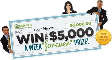 Publishers Clearing House 101 Winners Circle - pch 5 000 00 a week forever prize giveaway no 4900 sweepstakesbible