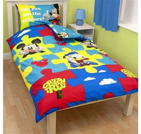 Bed Cover Set Mickey Polka 120x200 single reversible duvet cover set
