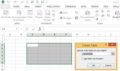 membuat background tabel html cara membuat tabel pada microsoft excel 2013 tutorial sy