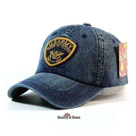 imagenes de gorras vaqueras gorra de tela vaquera con escudo united states us army en