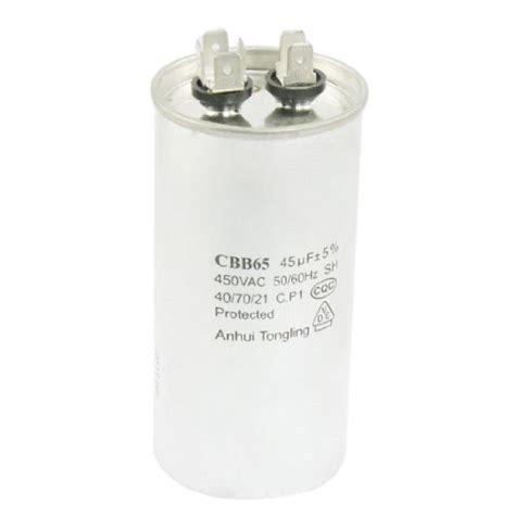 air conditioner capacitor 50 60hz uxcell 174 cbb65 ac 450v 50 60hz 45uf motor running capacitor for air conditioner electronics