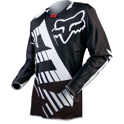black motocross jersey fox racing mx gear 360 savant dirt bike white black