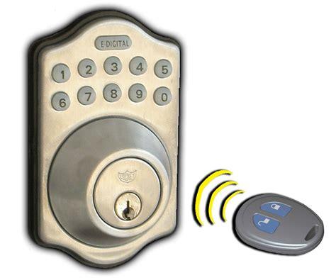 Keyless Exterior Door Locks Lockey E Digital Series Remote Keyless Entry Locks Keypad Pushbutton Combination