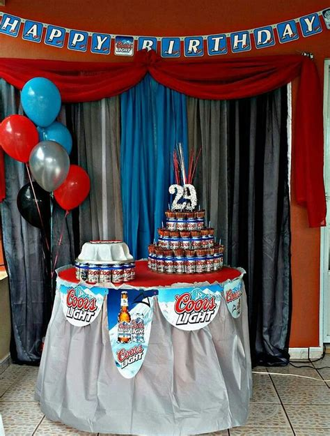 coors light theme party adult birthday party birthday party decorations  adults guys