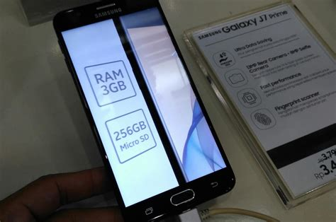 unboxing smartphone samsung galaxy j7 prime