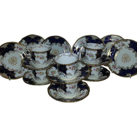 Santika Batwing Set 1 a set of six coalport blue batwing coffee cups saucers