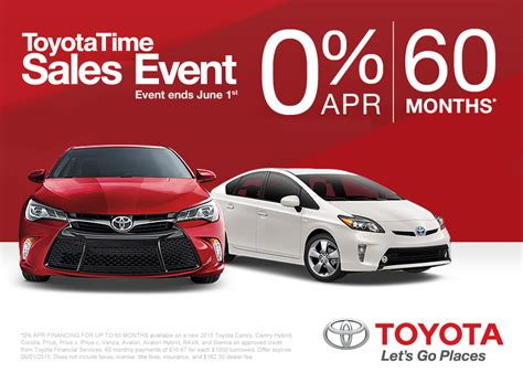 Toyota Sales Event Toyotatime Sales Event At Markquart Toyota Near Eau