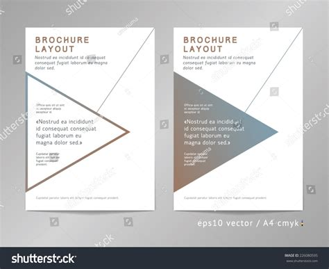 minimalist company profile design annual report brochure leaflet cover page stock vector