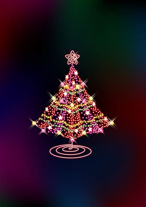 glittering christmas tree   ai