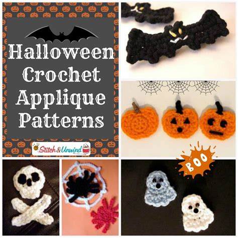 halloween appliques halloween crochet appliques 1024x1024 add flair to your