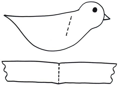 Paper Bird Craft Template - preschool programs chapter tslac