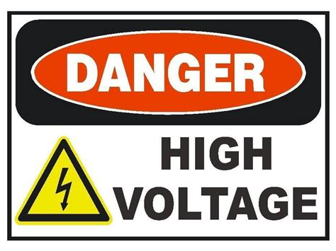 printable osha stickers danger high voltage sticker safety sticker sign d180 osha