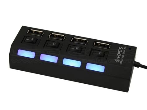 Usb Hub Usb Port Switch On power styled 4 port usb hub with independent switches gadgetsin