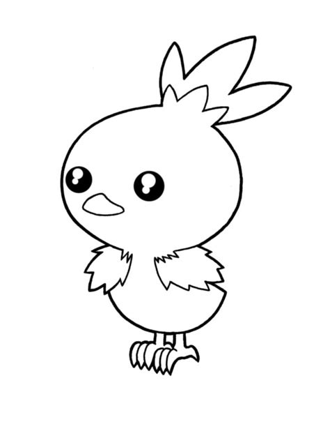 pokemon coloring pages torchic how to draw torchic