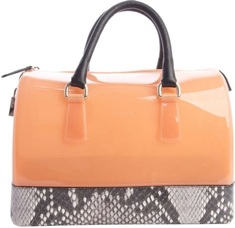 Tas Furla Authentic 1 orange rubber satchel bag furla belletto pink and brown rubber gel handbag where to buy