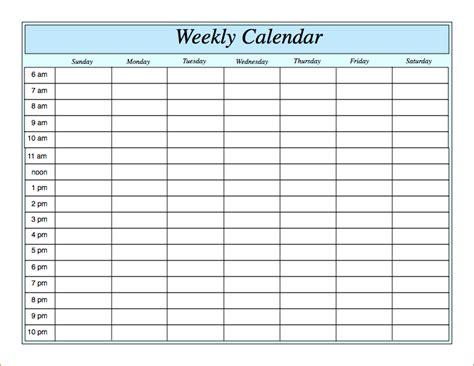 Galerry printable weekly planner pdf