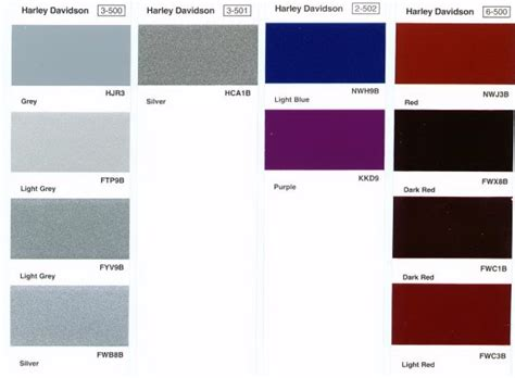 paint colors harley davidson harley davidson paint color codes
