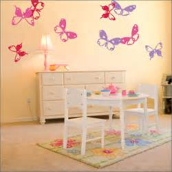 delicate butterflies wall stickers pretty shades pink and lilac cool girls room kidsomania