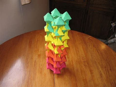 Origami Flower Tower - unit origami cool origami origami and photos