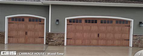 Garage Doors Milwaukee by Wood Tone Carriage House Options Geis Garage Doors