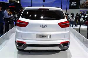 Hyundai Tournament Of Chions 2014 Hyundai Ix25 White Rear At Auto China 2014 Indian Autos