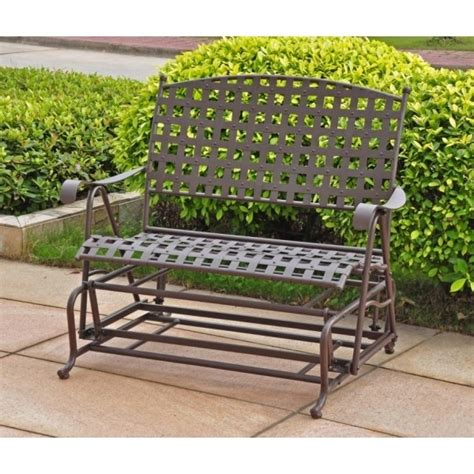 wrought iron patio glider bench 56 best images about garden slider swings on pinterest