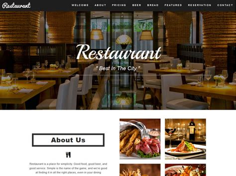 bootstrap templates for restaurant free restaurant restaurant cafe html5 bootstrap template