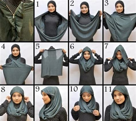 kreasi tutorial hijab segitiga simple terbaru