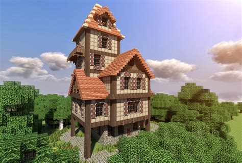 minecraft cool house tutorial how to build a beautiful medieval house minecraft blog minecraft pinterest