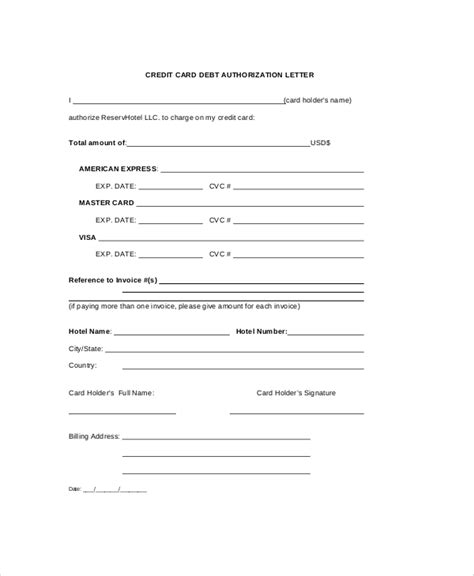 authorization letter format for bank to collect debit card authorization letter from credit debit cardholder