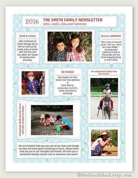 card letter year in review template year in review newsletter template in pdf for