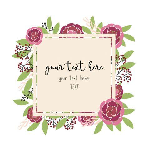 design a frame online floral frame design vector free download