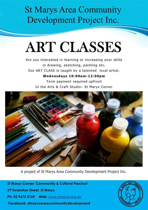 craft classes for class st marys area community development project
