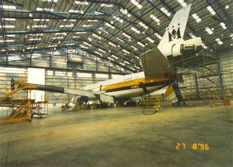 aircraft maintenance hangar monarch aircraft enineering maintenance hangar at