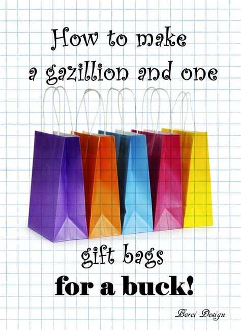 How Do You Make Paper Bags - how to make gift bags allfreeholidaycrafts
