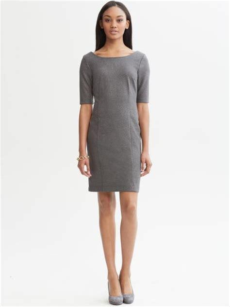 Banana Grey Dress banana republic grey pont 227 knit dress in gray tipo grey