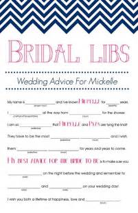 bridal mad libs bridal shower games that promise to
